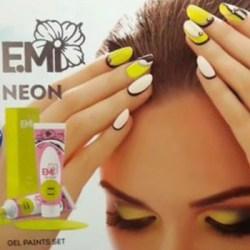 Гелеві фарби в кислотно-яскравих неонових кольорах Neon E.Mi | продаж в Україні