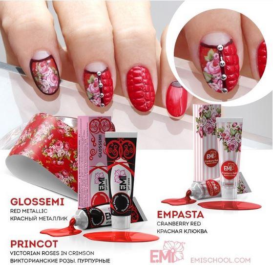 эми, эмми, красная клюква, черный тюльпан, альпийский снег, краски эми, гелевые краски эмми, пастель звенит, роскошная фуксия, все для ногтей, гель для наращивания