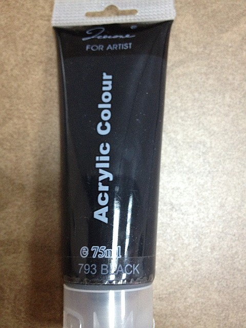 черная акриловая краска, акриловая краска купить, черные акриловые краски, черная краска для китайки, краски для китайки купить