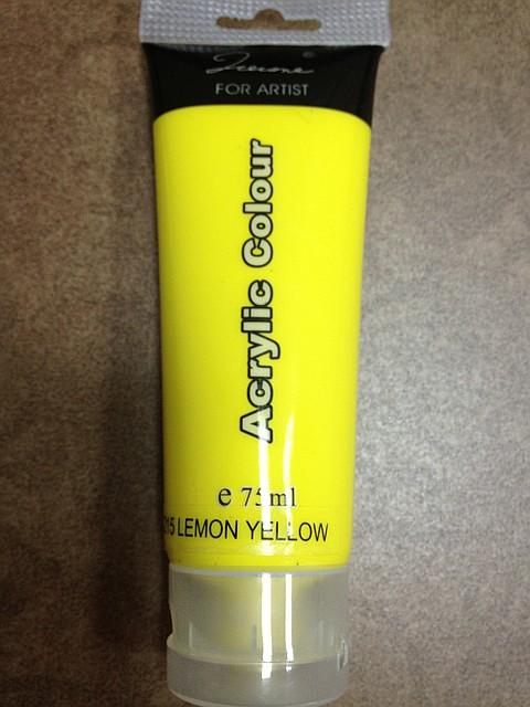 лимонная акриловая краска, яркая акриловая краска, желтая акриловая краска, сочные акриловые краски для китайки, краска акриловая лимонная