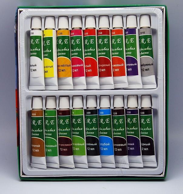 набор акриловых красок, акриловые краски, краски акриловые, краски акриловые для дизайна ногтей, Акриловые краски в тюбиках