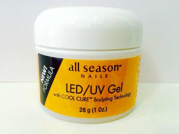 моделирующий гель Clear Gel Led/UV 28 ml, моделирующий гель, all season, гели для наращивания