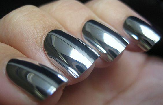 зеркальный маникюр, зеркальные ногти, зеркальное покрытие, ногти зеркальные, ногти минкс, неил арт, металлические ногти, декор неил, неил декор